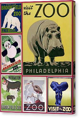 The Zoo 1930s And 1940s Poster Art Canvas Print