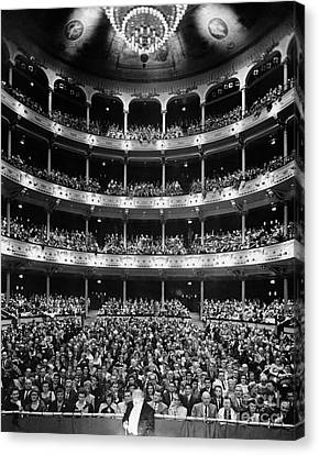 Theater Audience Viewed From Stage Canvas Print by H. Armstrong Roberts/ClassicStock
