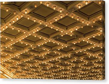Theater Ceiling Marquee Lights Canvas Print by David Gn