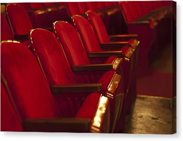 Theater Seating Canvas Print by Carolyn Marshall