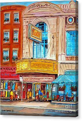 Theatre Rialto Ave. Du Parc Montreal Canvas Print by Carole Spandau
