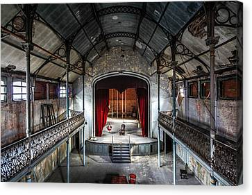 Abandoned House Canvas Print - Theatre Scene And Balcony - Urban Decay by Dirk Ercken