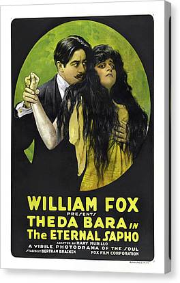 Theda Bara In The Eternal Sapho 1916 Canvas Print by Mountain Dreams