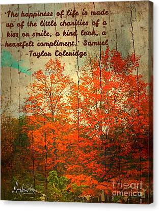 The Happiness Of Life By Taylor Coleridge Canvas Print