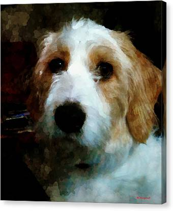 Their Dog Canvas Print by Margaret Wingstedt