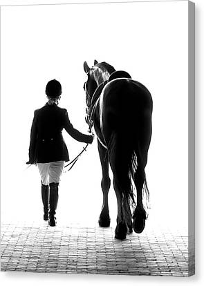 Black And White Canvas Print - Their Future Looks Bright by Ron  McGinnis