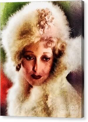 Thelma Todd, Vintage Actress Canvas Print by John Springfield
