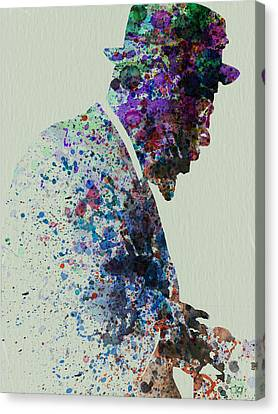 Thelonious Monk Watercolor 1 Canvas Print by Naxart Studio