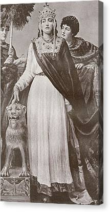 Theodora I, C. 500 - 548. Empress Of Canvas Print