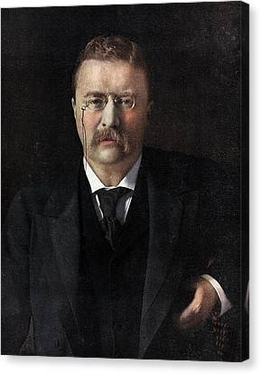 Theodore Roosevelt Canvas Print by American School
