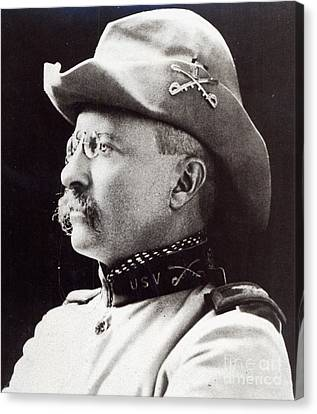 Theodore Roosevelt As Lieutenant-colonel Of 1st Us Volunteer Cavalry In 1898 Canvas Print by American School