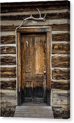 Theodore Roosevelt Cabin Door Canvas Print by Paul Freidlund