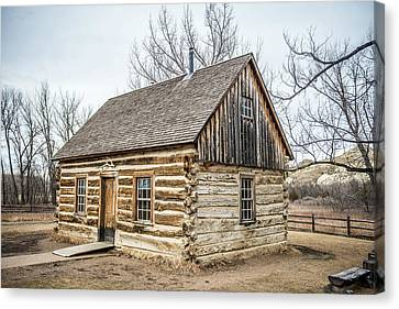 Log Cabin Interiors Canvas Print - Theodore Roosevelt Cabin End by Paul Freidlund