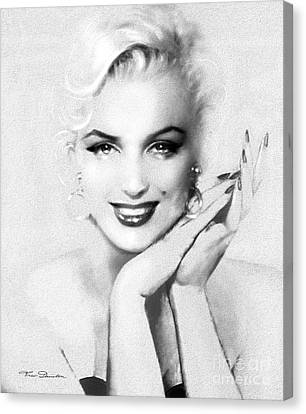 Theo's Marilyn 133 Bw Canvas Print