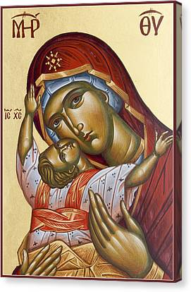 Theotokos Kardiotissa I Canvas Print