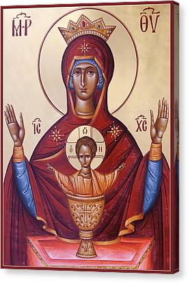 Theotokos The Inexhaustable Cup Canvas Print by Julia Bridget Hayes