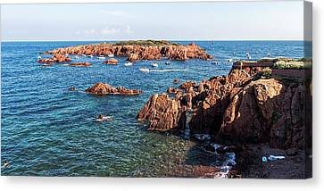 Canvas Print featuring the photograph Theoule-sur-mer by Ron Dubin