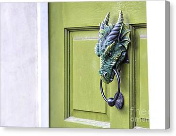 There Be Dragons Inside Canvas Print by Tim Gainey