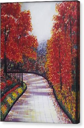 There Is Always A Bright Road Ahead Canvas Print by Usha Rai