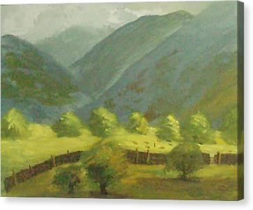 Canvas Print featuring the painting There Is Mist Up Here by Trilby Cole