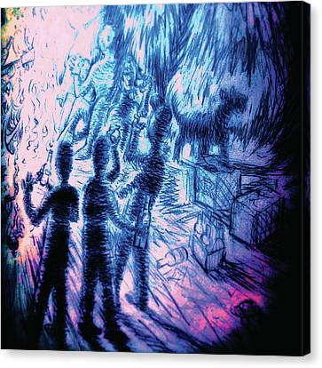 There Is Something In The Woods Canvas Print by Jordan Kotter