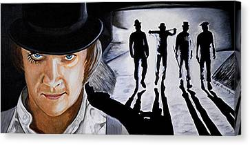 There Was Me That Is Alex And My Three Droogs Canvas Print