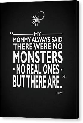 There Were No Monsters Canvas Print by Mark Rogan