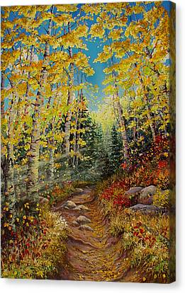 There's  A Light Beyond These Woods Canvas Print