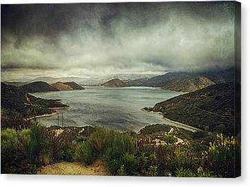 There's A Storm Brewing Canvas Print by Laurie Search