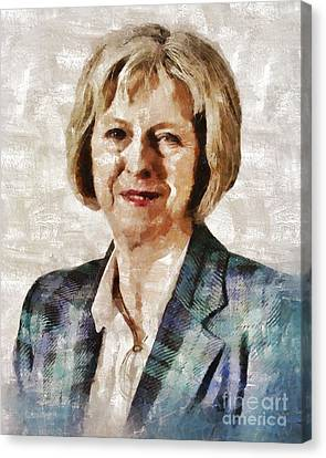 Theresa May, Prime Minister Of The United Kingdom By Mary Bassett Canvas Print