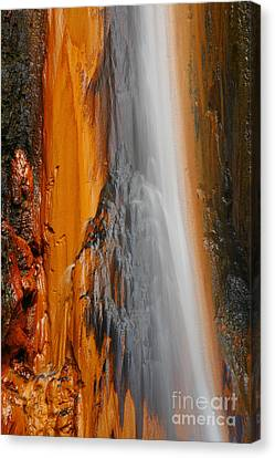 Thermal Waterfall Canvas Print by Gaspar Avila