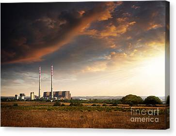 Thermoelectrical Plant Canvas Print by Carlos Caetano