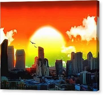 Combustion Canvas Print - Thermogenesis by Anthony Caruso