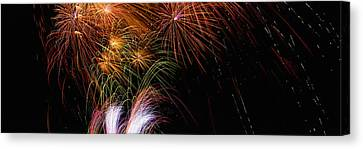 These Are Fireworks From Navy Pier. It Canvas Print by Panoramic Images