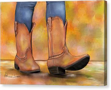 These Boots Are Made For Walkin  Canvas Print