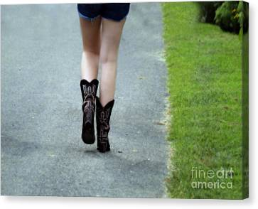 These Boots Are Made For Walking Canvas Print by Steven  Digman