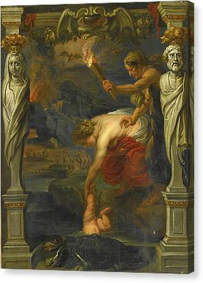The Followers Canvas Print - Thetis Dipping The Infant Achilles Into The River Styx by Follower of Peter Paul Rubens