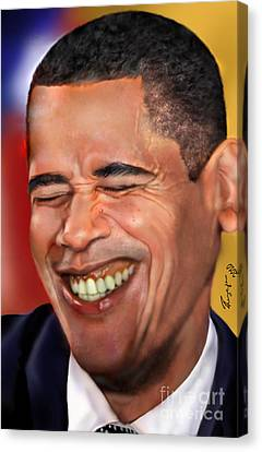 Barack Canvas Print - They Called Me Mr. President 1 by Reggie Duffie