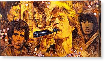 Mick Jagger Poster Canvas Print featuring the painting They Rock by Igor Postash