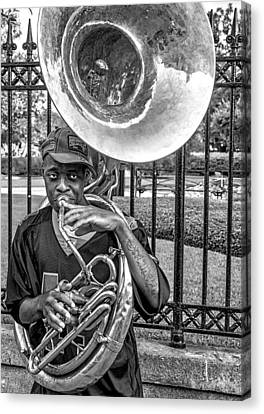 They Say It's The Sousaphone Players You Have To Look Out For... Canvas Print by Kirk Cypel