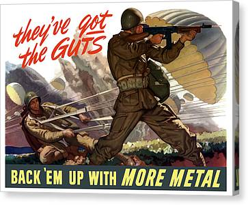 They've Got The Guts Canvas Print by War Is Hell Store