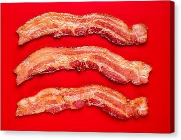 Thick Cut Bacon Canvas Print by Steve Gadomski