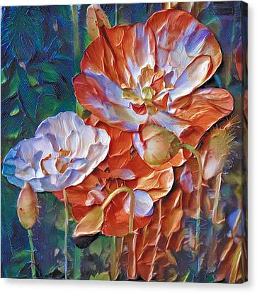 Thick Paint Flowers 2 Canvas Print by Yury Malkov