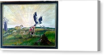 Thieving Eagle Canvas Print by Emmanuel Nwogbo