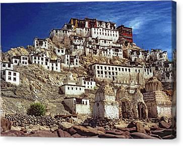 Tibetan Canvas Print - Thiksey Monastery by Steve Harrington