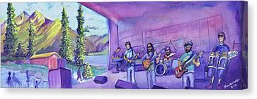 Thin Air At Dillon Amphitheater Canvas Print by David Sockrider