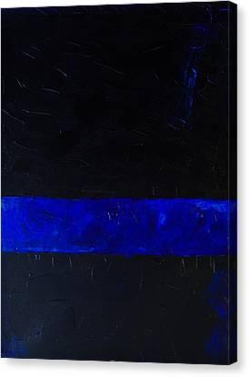 Thin Blue Line Canvas Print by Sarah Jane Thompson