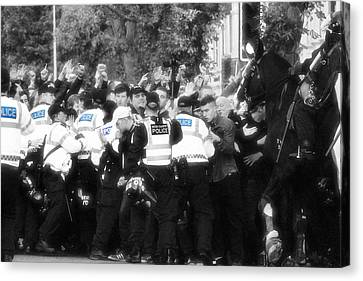 Thin Blue Line Canvas Print by Tin Lid Photography