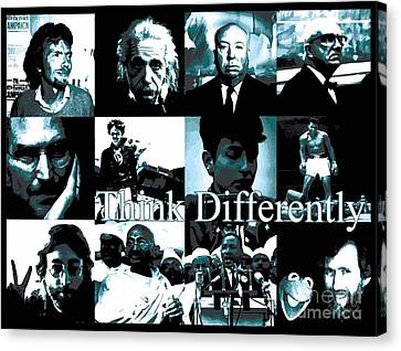 Think Differently Steve Jobs Tribute To The Man Who Gave Us Apple And The Iphone Canvas Print