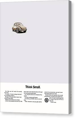 Think Small Canvas Print by Mark Rogan